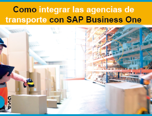 Como integrar las agencias de transporte con SAP Business One. Conoce SGI Carrier